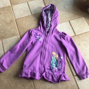 Disney Frozen girls hoodie jacket 5-6